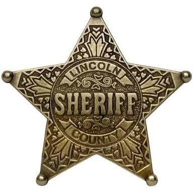 Lincoln Sherif County Sheriff Badge Sheriff Badge