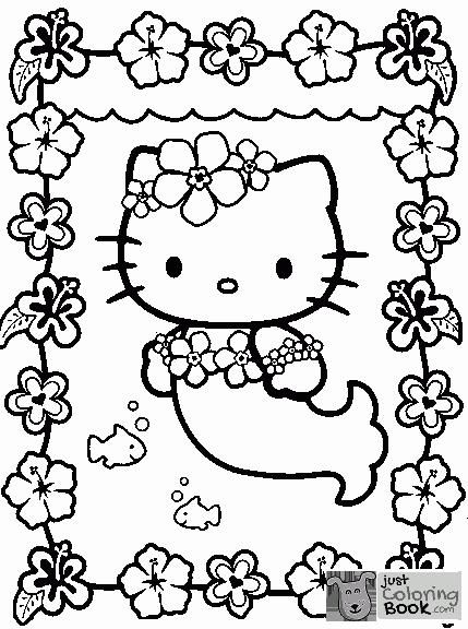 Free Printable Hello Kitty Coloring Pages For Kids Coloriages Throughout Free Printable Kawaii Kitt Kitty Coloring Hello Kitty Coloring Mermaid Coloring Pages