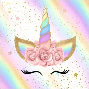 Unicorn and Rainbow: Free Printable Candy Bar Labels.