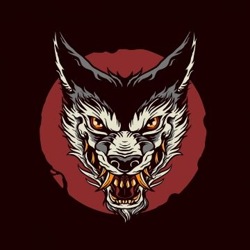 Gambar Serigala Telah Vektor Kepala Seram Haiwan Png Dan Vektor Untuk Muat Turun Percuma Gambar Serigala Serigala Png
