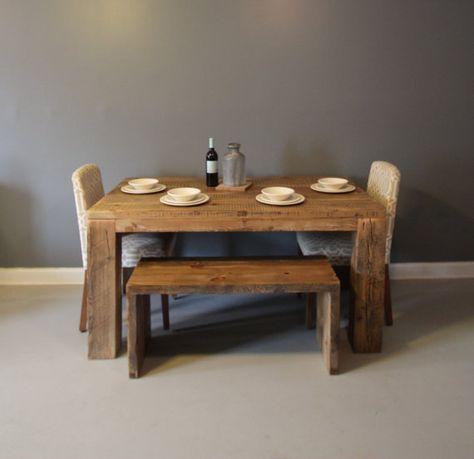 Table A Manger Ou Table De Cuisine Table En Bois Recupere Bois