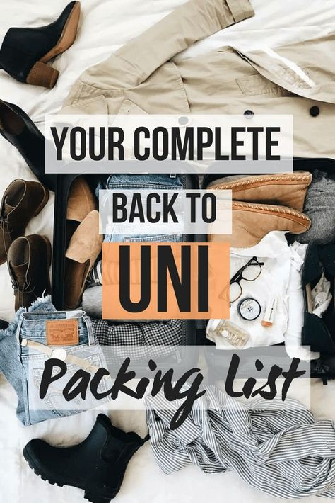 The ultimate back-to-uni packing list #uni #dorm #fresher