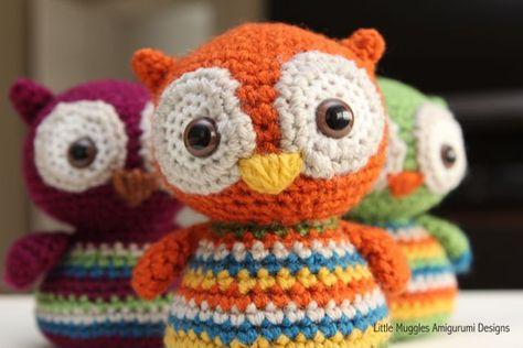 Little owl, free pattern