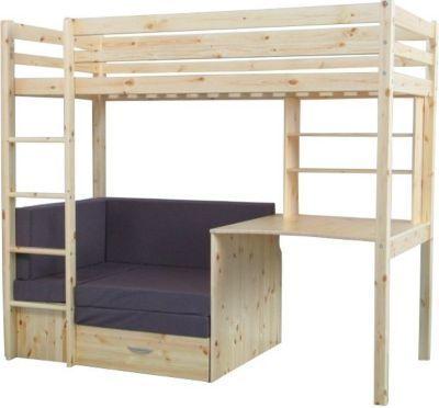 Thuka Hochbett 90x200 Kiefer Massiv Bett Kinderbett Gastebett