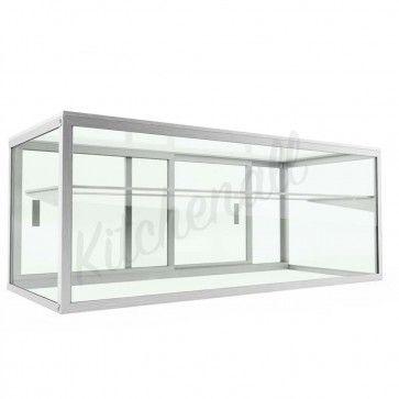 Custom Glass Ssg48 48 Salad Bar Display Case Sneeze Guard With Rear Doors In 2020 Sneeze Guard Display Case Custom Glass