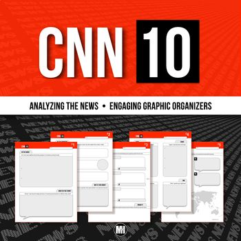 Cnn 10 Distance Learning Current Events News Summary Video Project In 2021 Graphic Organizers Current Events News Current Events Cnn students news worksheet