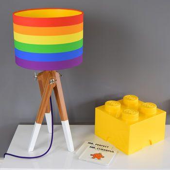 Rainbow Shade And Dipped Leg Tripod Table Lamp Set Colour Pop