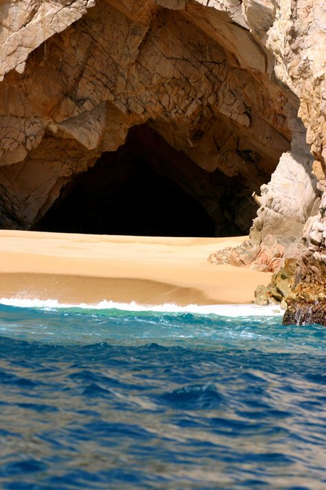 Cave shore in Crete island, Greece