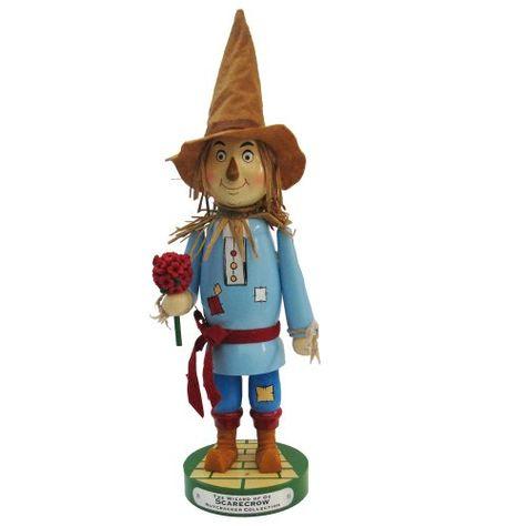 Kurt Adler Scarecrow Nutcracker Figurine, 12-Inch