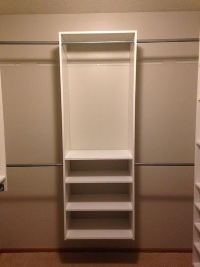 Starter With No Extras Wood Closet Systems Martha Stewart