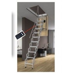Electric Attic Stairs Attic Access Ladders The Stairway Shop In 2020 Attic Stairs Attic Ladder Attic Access Ladder