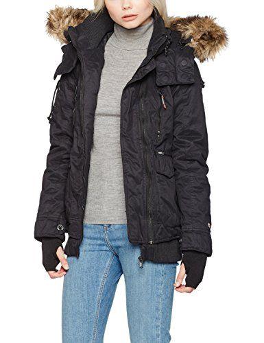 Damen Schwarzblack 200MediumJacken Furs Khujo Jacke qGSUVzMpL