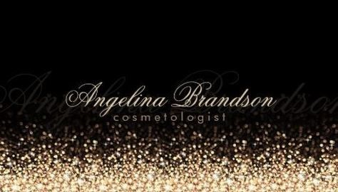 210 best girly cosmetology business cards images on pinterest glamorous gold dust glitter on chic black cosmetologist business cards http reheart Image collections