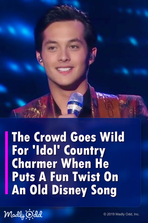 The Crowd Goes Wild For 'Idol' Country Charmer When He Puts A Fun Twist On An Old Disney Song