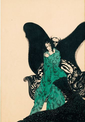 Vampyre 1920 German Artist Alastair Baron Hans Henning Voigt 1887 1969 插画 画