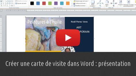 Creer Une Carte De Visite Dans Word Presentation