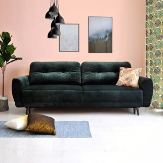 Designerska Sofa Welurowa Zielona Butelka Furniture Sofa Home Decor