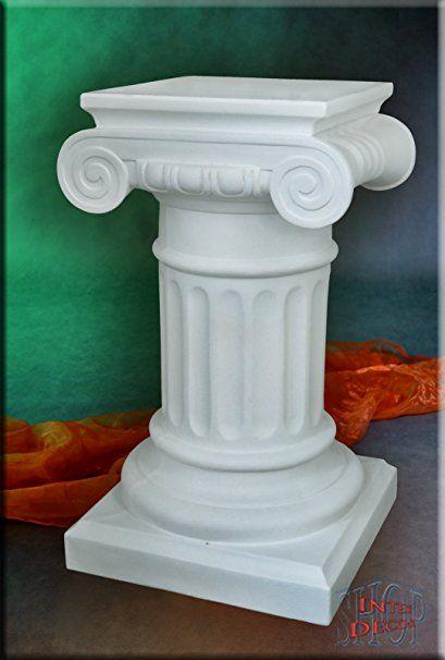 Säule Blumensäule Dekosäule Lampe Stehlampe Antik Säulen mit Licht Stuckgips