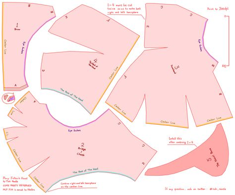 Pony Fullsuit head pattern by toki-reatle.deviantart.com on @DeviantArt