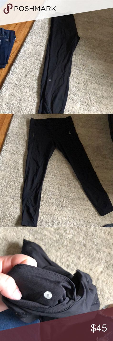 2b8c87c0a985a Lulu lemon leggings size 8 These leggings have zippers in the side for  pockets and mesh
