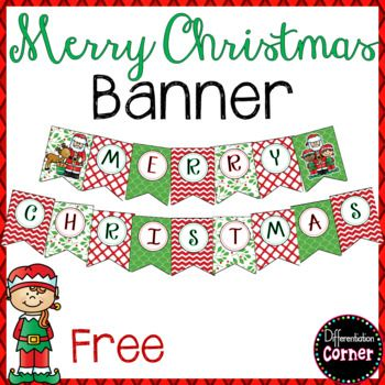 image regarding Printable Merry Christmas Banner named Xmas Banner Bodily Natural environment of Clroom Xmas