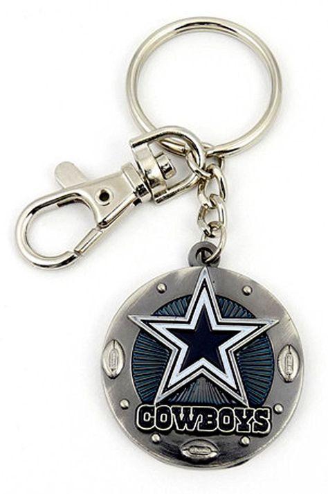 Silver Metal Dallas Cowboys Keychain