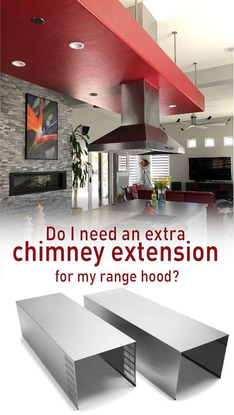Range Hood Chimney Extension Guide Range Hood Kitchen Island Countertop Stainless Range Hood