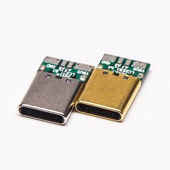 Crimp 12pin Pcb Mount Type C Usb Male Connector Plug Usb Usb Flash Drive Flash Drive