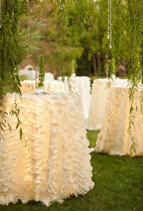 If you're an event planner or bride-to-be, check out our coverage of what is trending in wedding decor and design to find your inspiration or theme! Wedding Bells, Wedding Events, Our Wedding, Dream Wedding, Party Wedding, Wedding Tables, Garden Wedding, Ivory Wedding, Party Tables