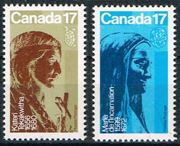 Kateri Tekakwitha And Marie De L Incarnation Stamps Canada 885 886 Stamps Stamp Stamp Collecting Canada