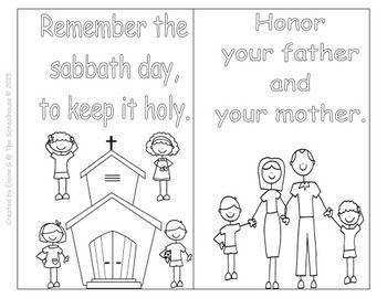 Ten Commandments For Kids Coloring Booklets Catholic Catholic Symbols Bible Lessons For Kids 10 Commandments Catholic