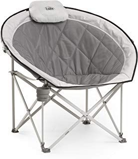Core 40025 Equipment Folding Oversized Padded Moon Round Saucer