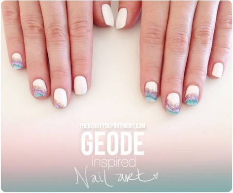 Our new geode-inspired mani! Click to see the full tutorial!
