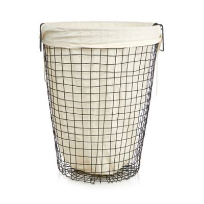 Ben De Lisi Home Black Wire Laundry Basket Debenhams Wire