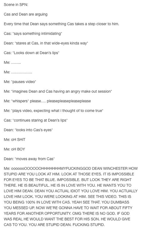 Basically what it's like to ship Destiel