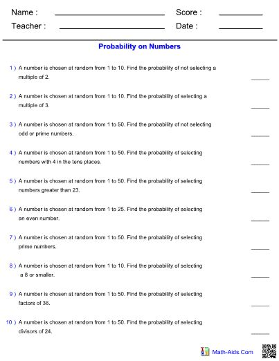 Probability Worksheets With Answers Pdf In 2020 Probability Worksheets Probability Word Problem Worksheets