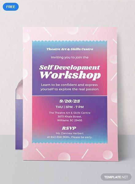 Free Workshop Invitation Event Invitation Templates
