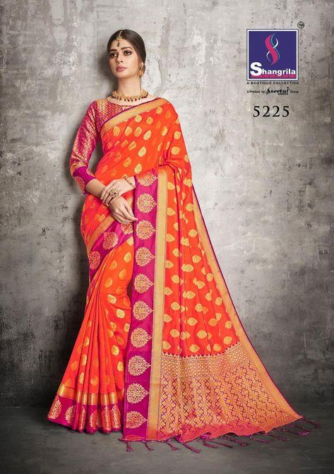 8e54aabfa52a7 SHANGRILLA SUKANYA SILK DESIGNER WEAVING SILK SAREE CATALOG MANUFACTURER  WHOLESALER AND EXPORTER OF WOMEN CLOTHES IN INDIA.