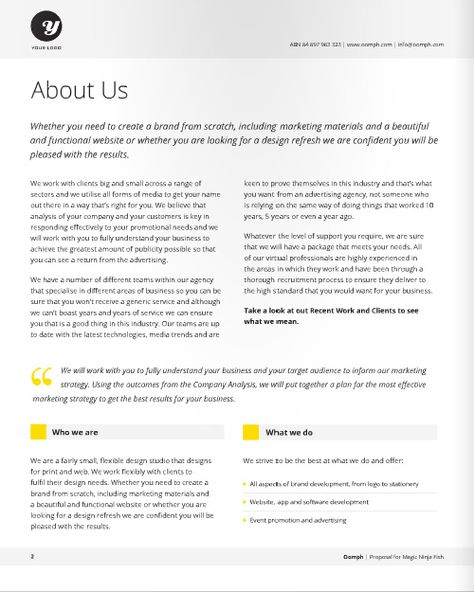 Graphic Design Project Proposal Template - service proposal template