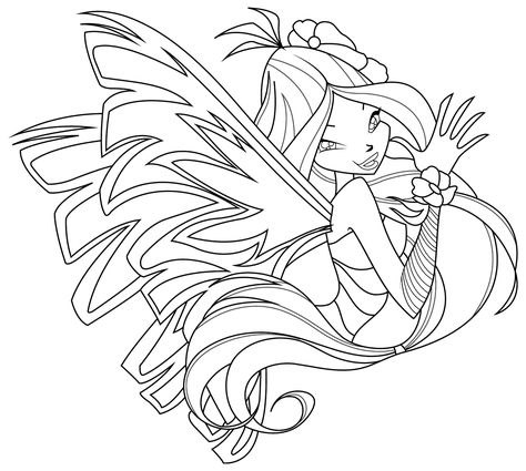 Winx Sirenix Coloring Pages Boyama Sayfalari