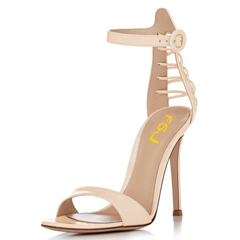 c769f03a534 Women s Black Ankle Strap Sandals Sexy Stiletto Heels Office Sandals for  Party