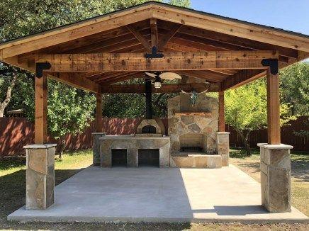 Cozy Gazebo Design Ideas For Your Backyard 40 Backyard Pavilion Outdoor Kitchen Patio Backyard Patio Designs