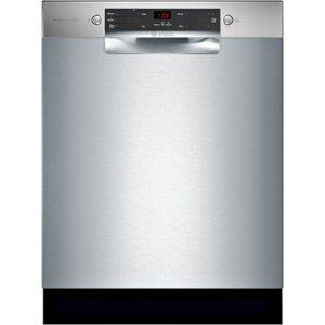 Bosch 300 Series 24 Front Control Built In Dishwasher With Stainless Steel Tub Stainless Steel Front Zoo Steel Tub Built In Dishwasher Bosch Dishwashers