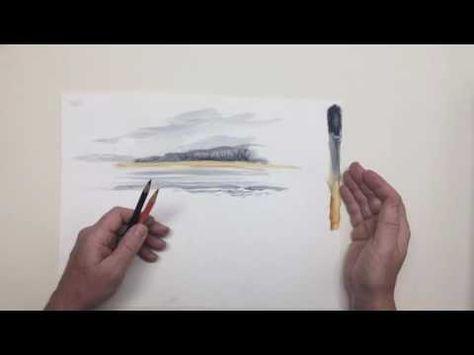 Aquarell Auf Leinwand Mit Aquarellstiften Von Faber Castell