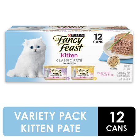 Fancy Feast Grain Free Pate Wet Kitten Food Variety Pack Kitten