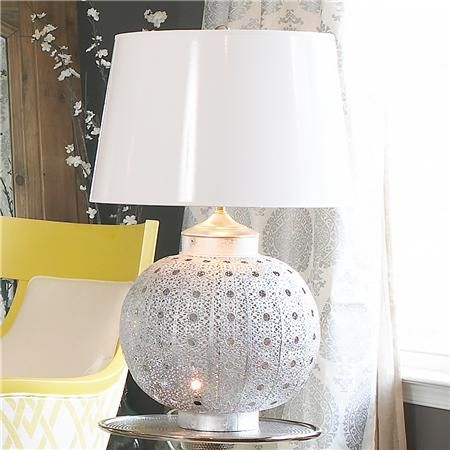 Pierced Moroccan Metal Table Lamp   Shades Of Light, Looks Like A Sea  Urchin | For The Home | Pinterest | Metal Table Lamps, Moroccan And Metals