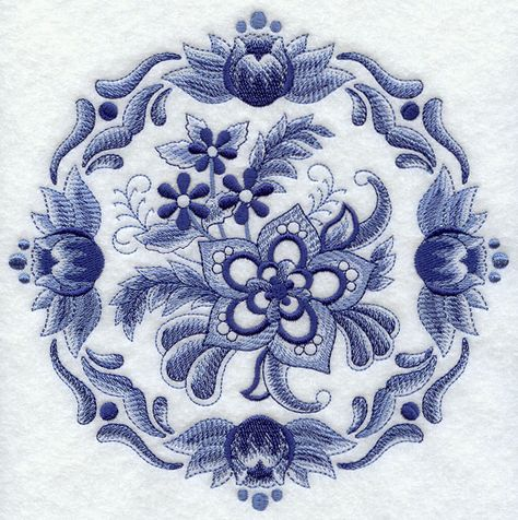 Machine Embroidery Designs At Embroidery Library Delft Blue