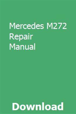 Mercedes M272 Repair Manual Repair Manuals Owners Manuals Sewing Machine Manuals
