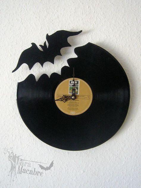 Bat Clock Vinyl Record by Mara Macabre