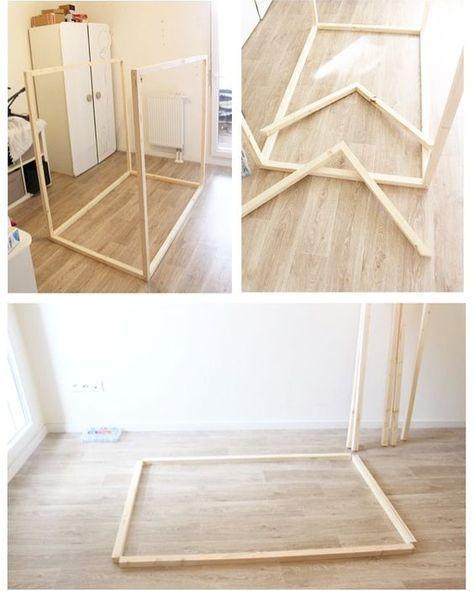 Comment construire un lit maison seul ? Maman Louve lit cabane - etape pour construire une maison